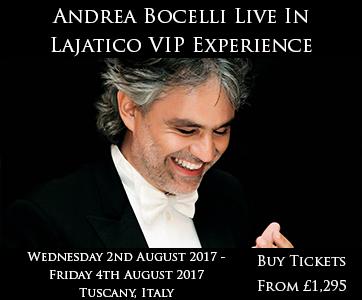 Andrea Bocelli Live In Lajatico VIP Experience