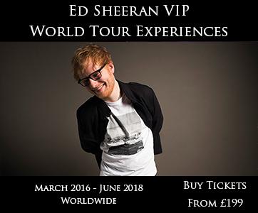 Ed Sheeran VIP World Tour Experience
