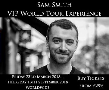 Sam Smith VIP Tour Experience