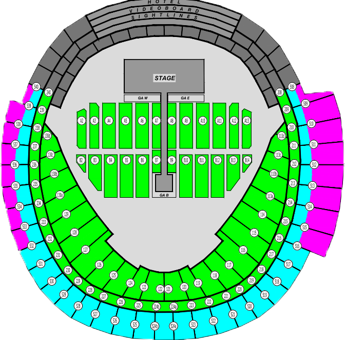 Rogers Center Seating Plan