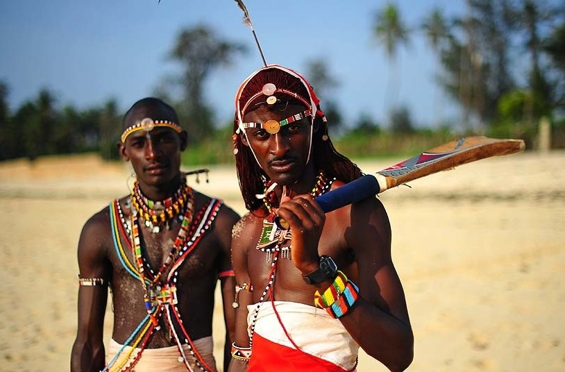 Maasai cricketer