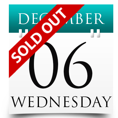 Wednesday 6th December 2017 Sold Out