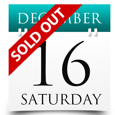 Saturday 16th December 2017 Sold Out