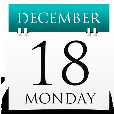Monday 18th December 2017