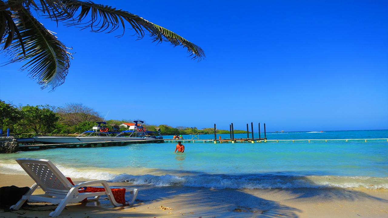 Rosario Island beach