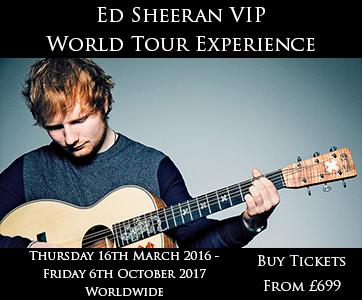 Ed Sheeran VIP Tour Experience