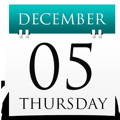 Thursday 5th December 2019
