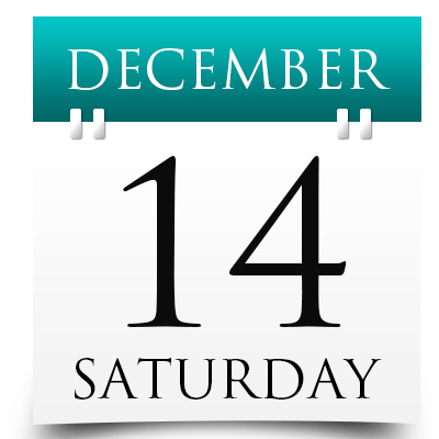Saturday 14th December 2019