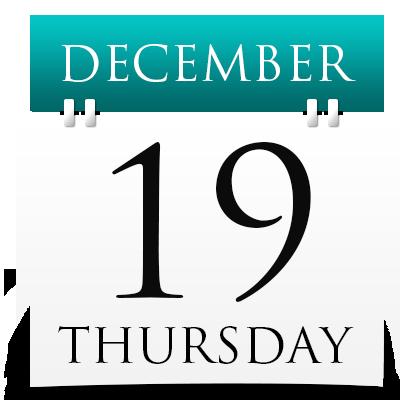 Thursday 19th December 2019