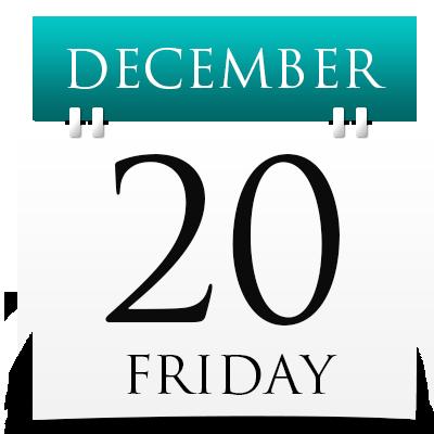 Friday 20th December 2019