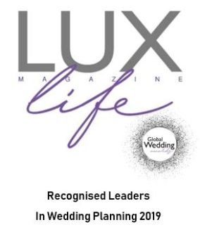 Recognised Leaders in Wedding Planning 2019