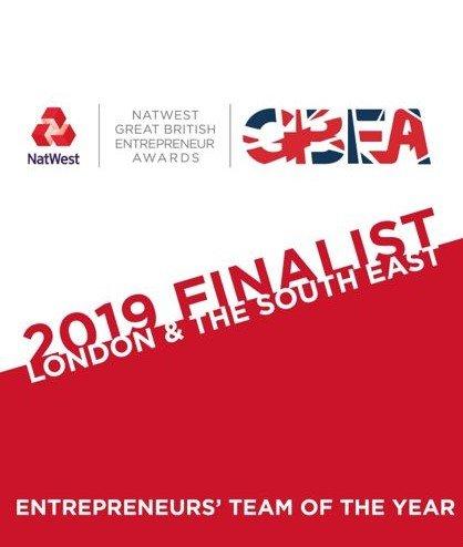 Finalist of Entrepreneur Team Of The Year - NatWest Great British Entrepreneur Awards 2019