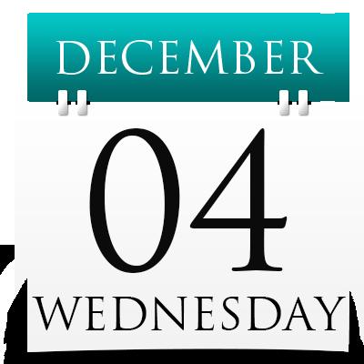 Wednesday 4th December 2019