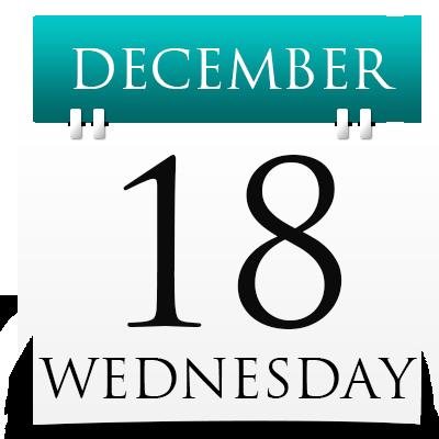 Wednesday 18th December 2019