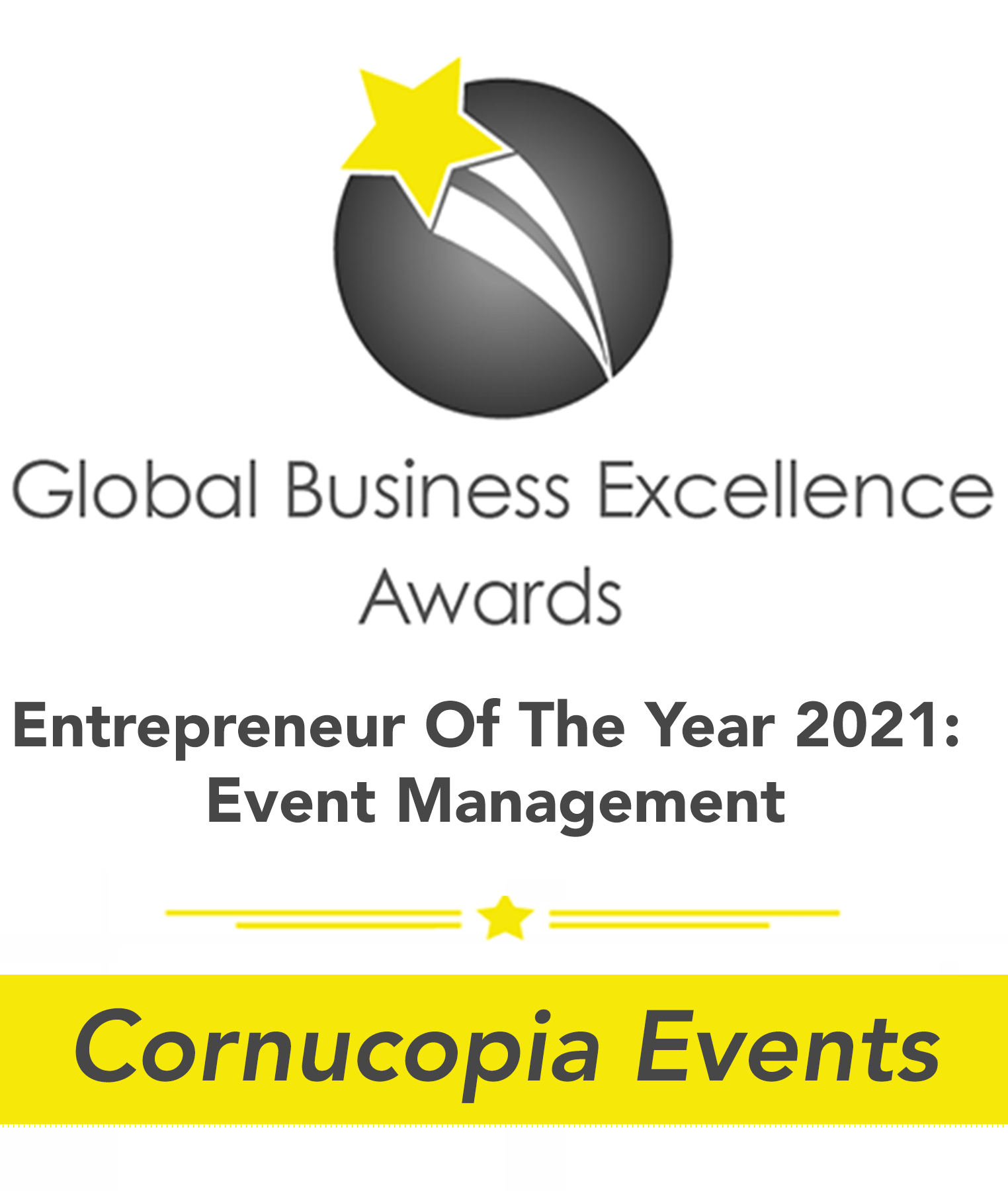 Entrepreneur Of The Year 2021: Event Management